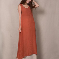 2Pcs Sleeveless A-Line Maxi Dress