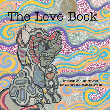 The Love Book Children and Baby Art Board Book, Bohemian, baby gift, baby shower ideas, gift for mom, gift for shower, Books for children