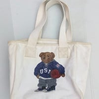 Vintage Totebag Polo Bear
