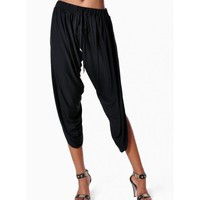 Slit Parachute Capri Pants at KnowStyleUSA