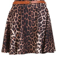 Animal Print Pleated Skirt - Womens Clothing Sale, Womens Fashion, Cheap Clothes Online | Miss Rebel