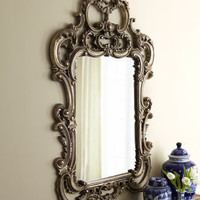 Silvery Baroque-Style Mirror - Horchow