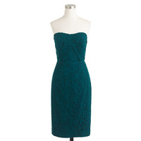 J.Crew Womens Petite Kelsey Strapless Dress In Leavers Lace