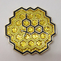 Honeycomb THC Molecule Hat Pin With Glitter