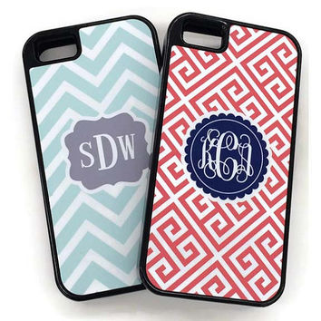 Monogrammed iPhone Cases, Personalized iPhone 4/4S and 5, Monogram Phone Cases by Mad For Monograms