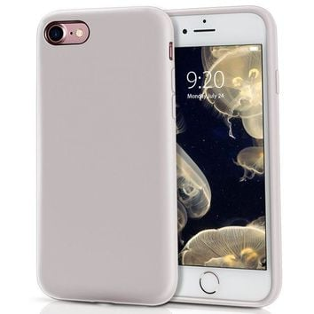 DCCKRQ5 iPhone 8 Case, iPhone 7 Case, MILPROX Pretty Series Liquid Silicone Gel Rubber Matte Case with Soft Microfiber Cloth Cushion, 4.7' iPhone 8 silicone cases, iPhone 7 silicone cases - Light Purple