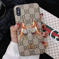 GUCCI Tiger Fashion iPhone Phone Cover Case For iphone 6 6s 6plus 6s-plus 7 7plus 8 8plus X
