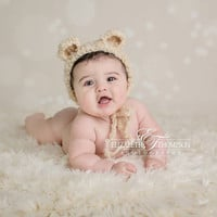 Baby Hat, Teddy Bear Hat, Photography Prop, Photo Prop, Teddy Bear, Bear, Bear Bonnet, Crochet Teddy Bear, Newborn, Baby, Hat, Beanie