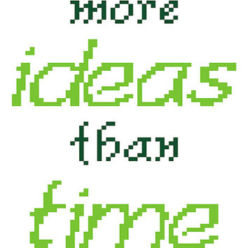 Fun modern typographic cross stitch. Contemporary cross stitch pattern.