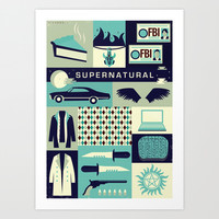Supernatural Art Print by Risa Rodil