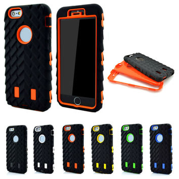 For iPhone 5S Case Silicone Tire Case Coque For iPhone 7 Case for iphone SE 6 6S 7 Plus Cover Hard Plastic Heavy Duty Armor