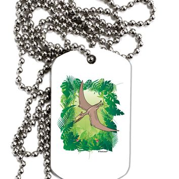 Pterosaurs - Without Name Adult Dog Tag Chain Necklace by TooLoud