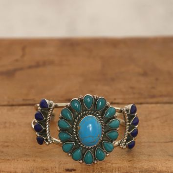 Stone Flower Cuff - Multi - What's New at Gypsy Warrior