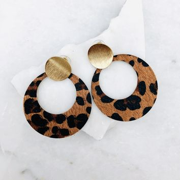Melissa Leopard Print Earrings