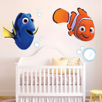 Nemo and Dory Decal Pack - Finding Nemo Decal Hero Printed and Die-Cut Vinyl Apply in any Flat Surface- Finding Nemo Decor