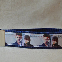 Keychain Wristlet Made With Supernatural Inspired Ribbon