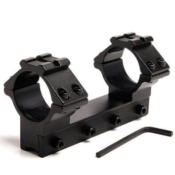 """Tactical Dual 1 """"Integrated 11mm Track Swallowtail Torch Range Mount 25.4mm Ring / Three Rail for Most Weaver and Picatinny Rail"""