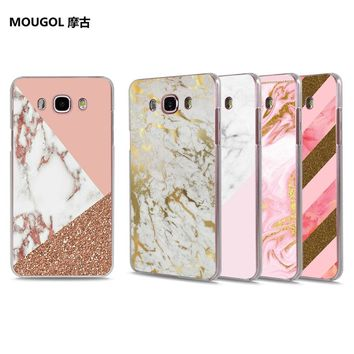Rose gold and marble hard case for Samsung phones