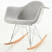 Padded Light Grey Rocker