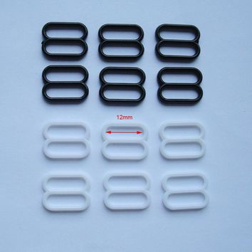 Free shpping DIY silk stockings buckle 12mm sexy underwear hosiery clip garment trimming plastic buckle for garment accessories