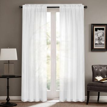 Mainstays Sheer Curtain Panel, Set of Two - Walmart.com