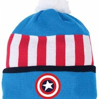 Captain America Beanie - Stars And Stripes Retro
