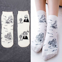 Hot fashion Japanese dimensional cute kawaii cartoon celebrity Women's  Sock  Fruit Sweet Woman Socks for Girl / Female / Ladies