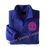 Monogrammed Fleece Jacket. Personalized Quarter-Zip Fleece Jacket. Monogrammed Bridesmaid Gift. Monogrammed Sweatshirt. Pullover. 025