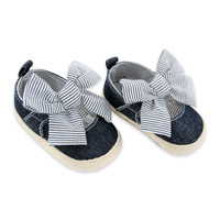 Rising Star™ Chambray Espadrille with Oversized Stripe Bow