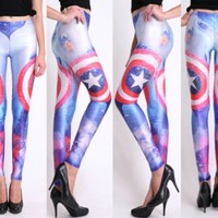 Captain America Galaxy Leggings