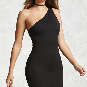 One-Shoulder Bodycon Mini Dress