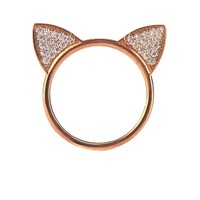 Topaz & rose gold-plated cat ears ring | Aamaya by Priyanka | MATCHESFASHION.COM US