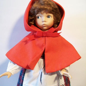 Dianna Effner Little Red Riding Hood Porcelain Doll Fairy Tale Collectible Home Decor