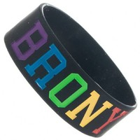 My Little Pony Brony Unisex Black Rubber Wristband Bracelet - My Little Pony - | TV Store Online