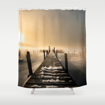 I rest here... Shower Curtain by HappyMelvin
