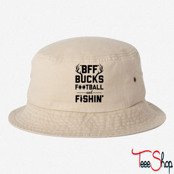 BFF Bucks Football & Fishin bucket hat