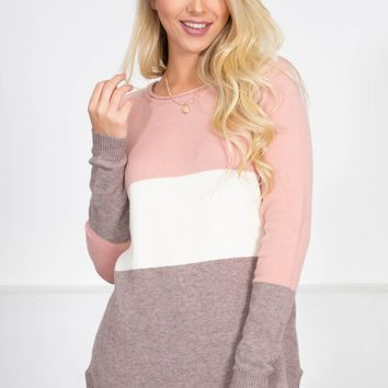 Blush Pink Block Top