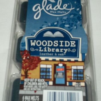 Glade Woodside Library Leather & Oak Wax Melts (1 package of 6)