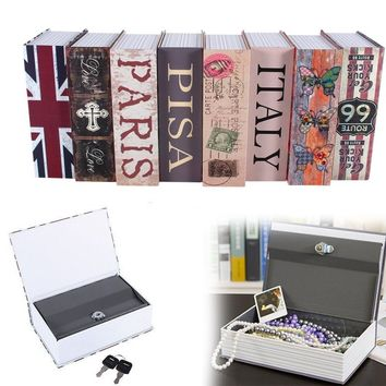 Dictionary Hidden Money Jewelry Secret Book Valuables Box Security Lock with Key