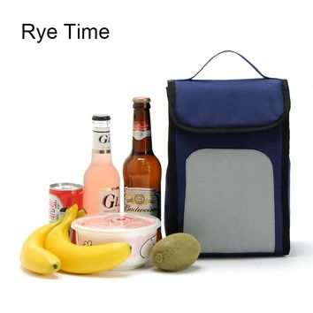 new brand small cooler bag insulated cool handbags picnic ice pack thermo lunch box food milk fresh insulation bag