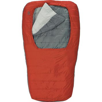 Sierra Designs Backcountry Bed Duo SYN Sleeping Bag: Synthetic Pompeian Red, Regular