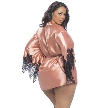 CoCo Plus Size Satin Robe