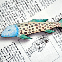 no.9 Wood Tropical Fish Magnet - Colorful Wooden Fish Magnet