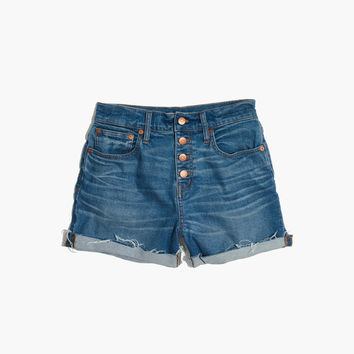 High-Rise Denim Boyshorts: Button-Through Edition : | Madewell