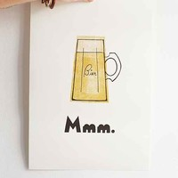 Michael Buchino MMM. Bier Art Print- Gold One
