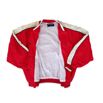 Vintage 90s  Polo Sport Red Jacket rare