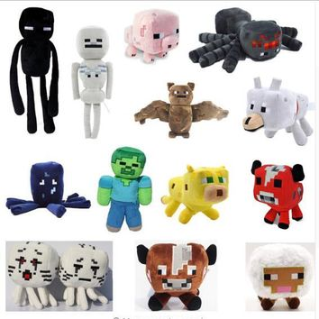 Minecraft Plush Toys 13 Styles Soft Stuffed Animal Doll Kids Game Cartoon Toy Brinquedos Zombie Enderman Gift for Child All Size