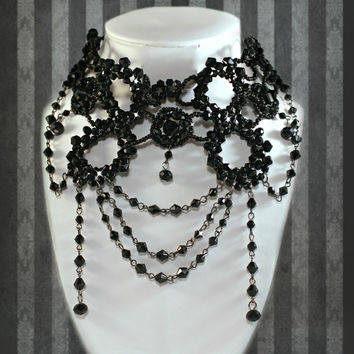 Free shipping  Victorian Necklace Gothic necklace Burlesque necklace Sexy choker Vamp