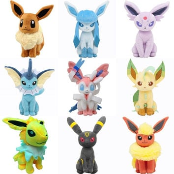 7.87'' 20CM Umbreon Eevee Espeon Jolteon Vaporeon Flareon Glaceon Leafeon Animals Stuffed Doll Kawaii Anime Plush Toys