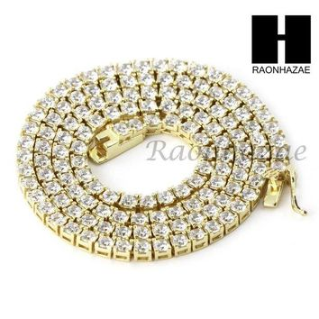 LMFONRC 925 STERLING SILVER TENNIS CHAIN DIAMOND CUT 17' CUBAN LINK CHOKER NECKLACE S01